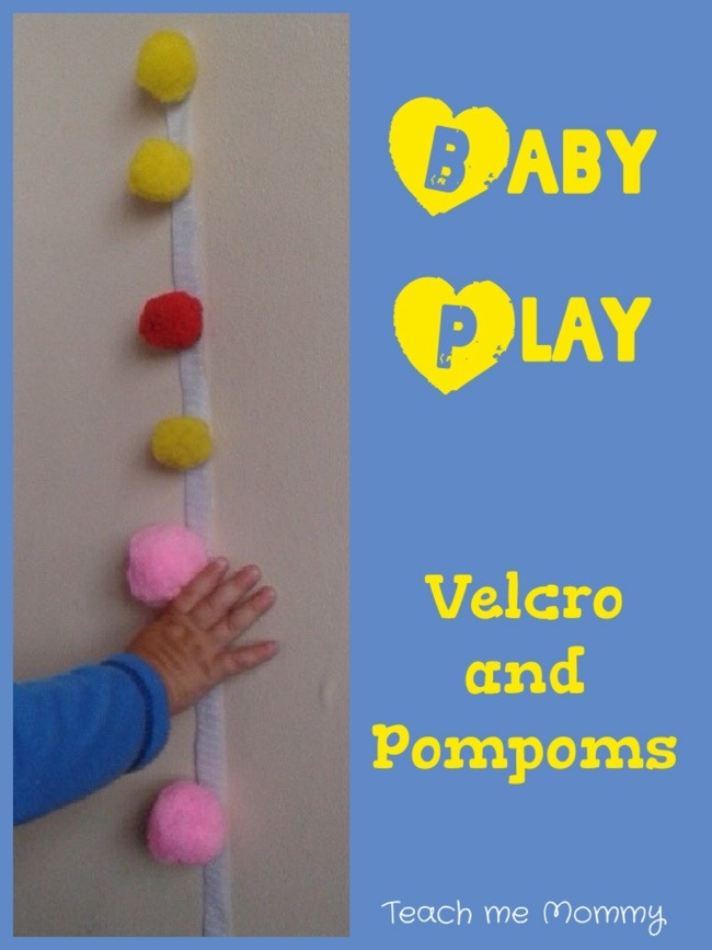 Baby Play: Velcro and pompoms
