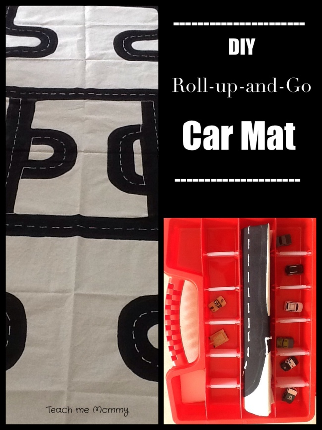 DIY Roll up and Go Car Mat