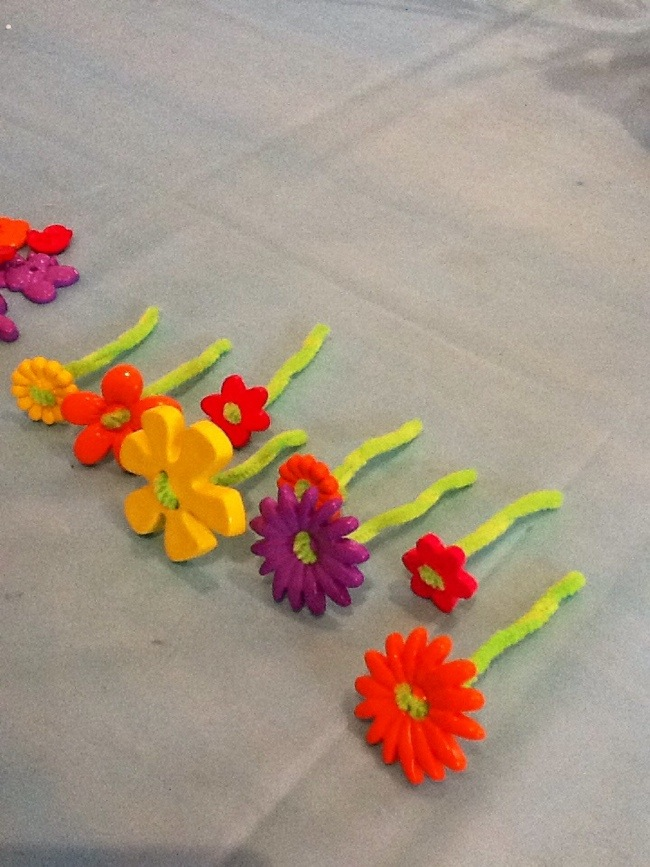 Button flowers