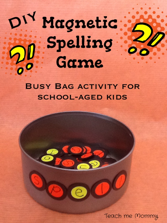 Magnetic spelling game