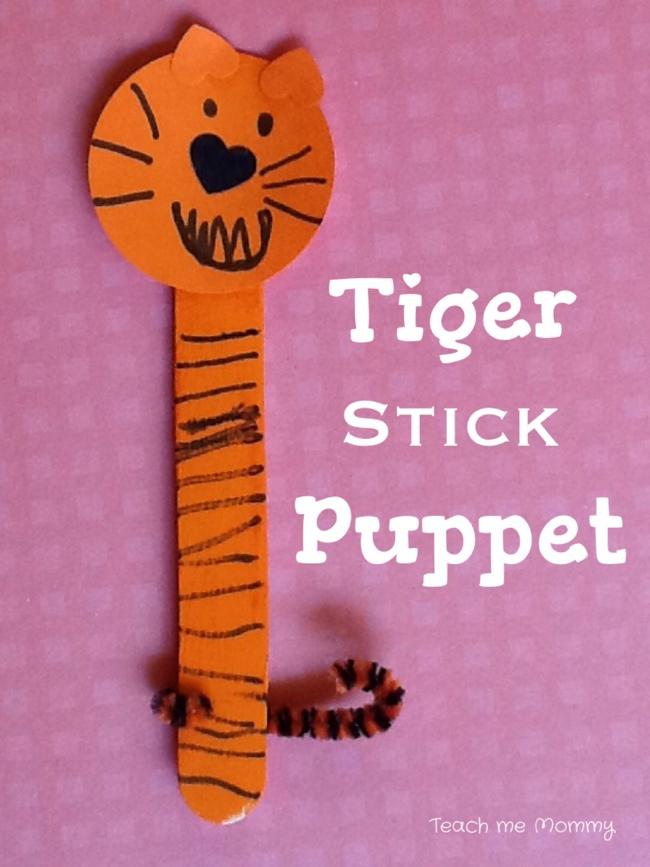 Tiger Stick Puppet