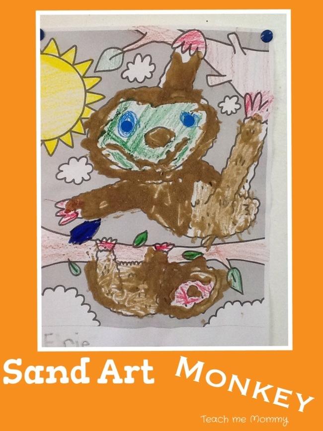 Sand art monkey