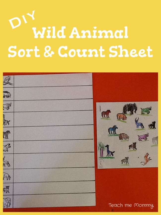 DIY Sort and count sheet