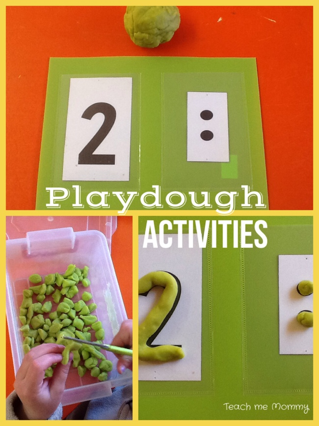Playdough activities