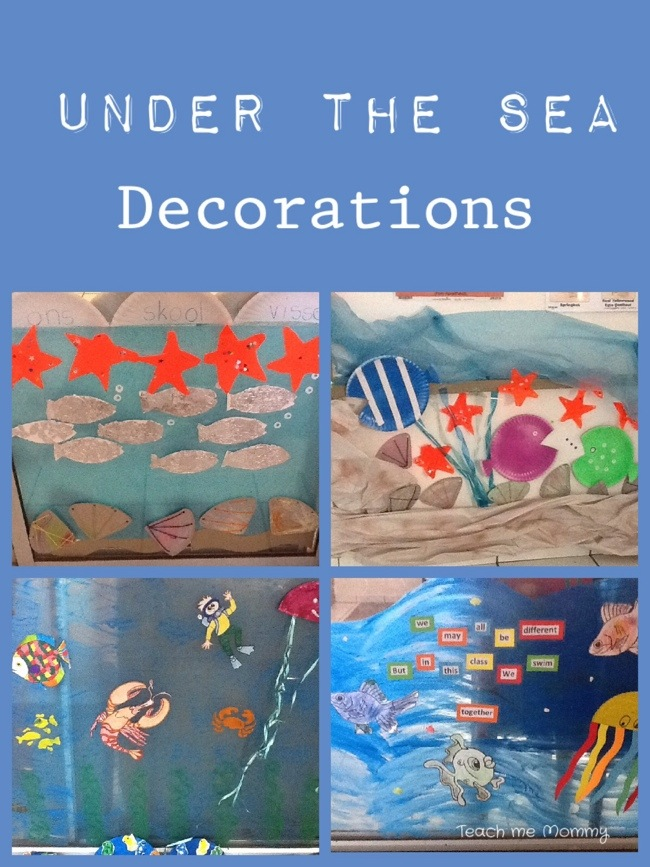 Classroom Decoration Ideas For Competition ~ Our week under the sea theme teach me mommy