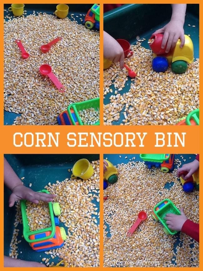 Corn sensory play