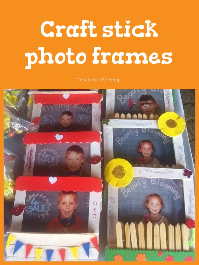 Craft stick photo frames