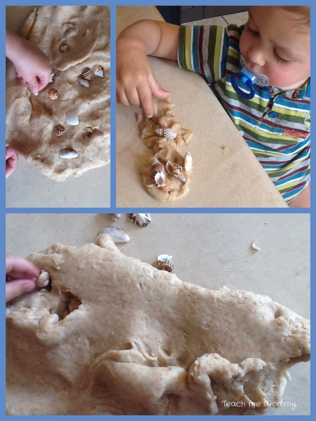Playtime with beach dough
