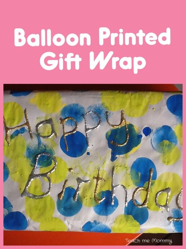 Balloon printed gift wrap