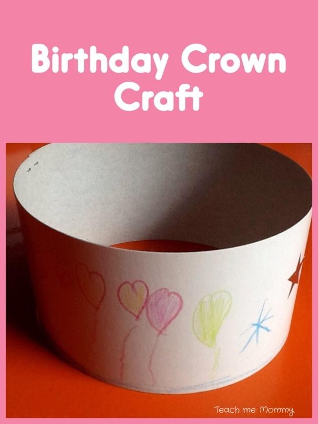 Birthday crown craft