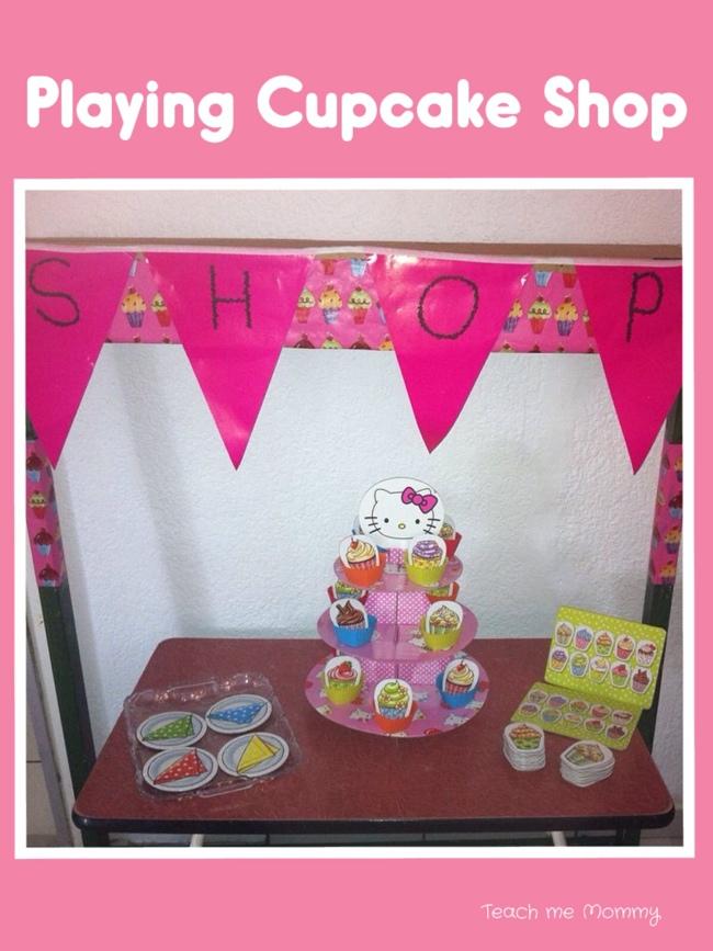 Playing Cupcake Shop