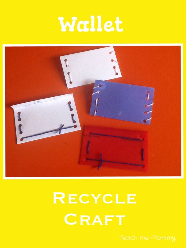 recycle craft wallet