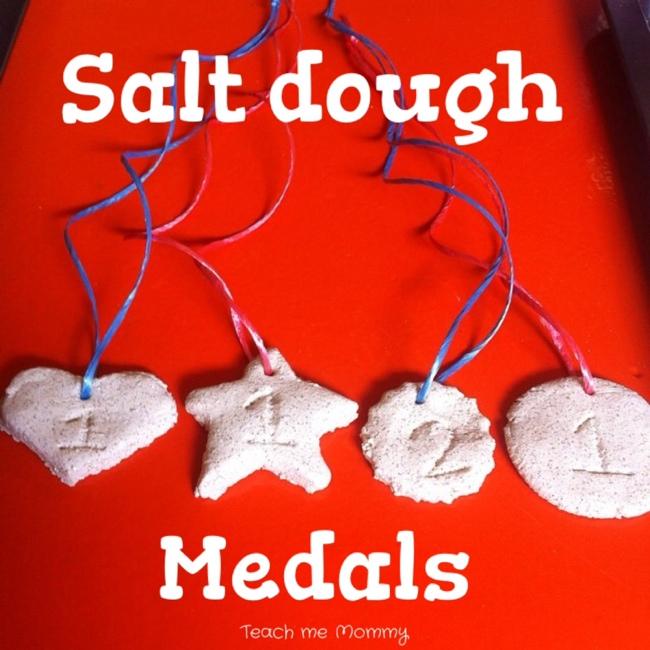 salt dough medals