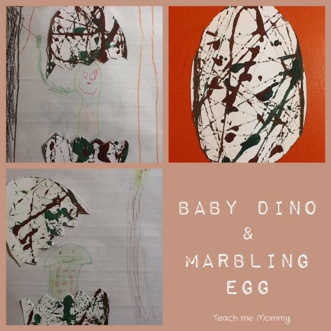 Baby Dino & Marbling Egg