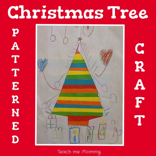 Patterned christmas tree