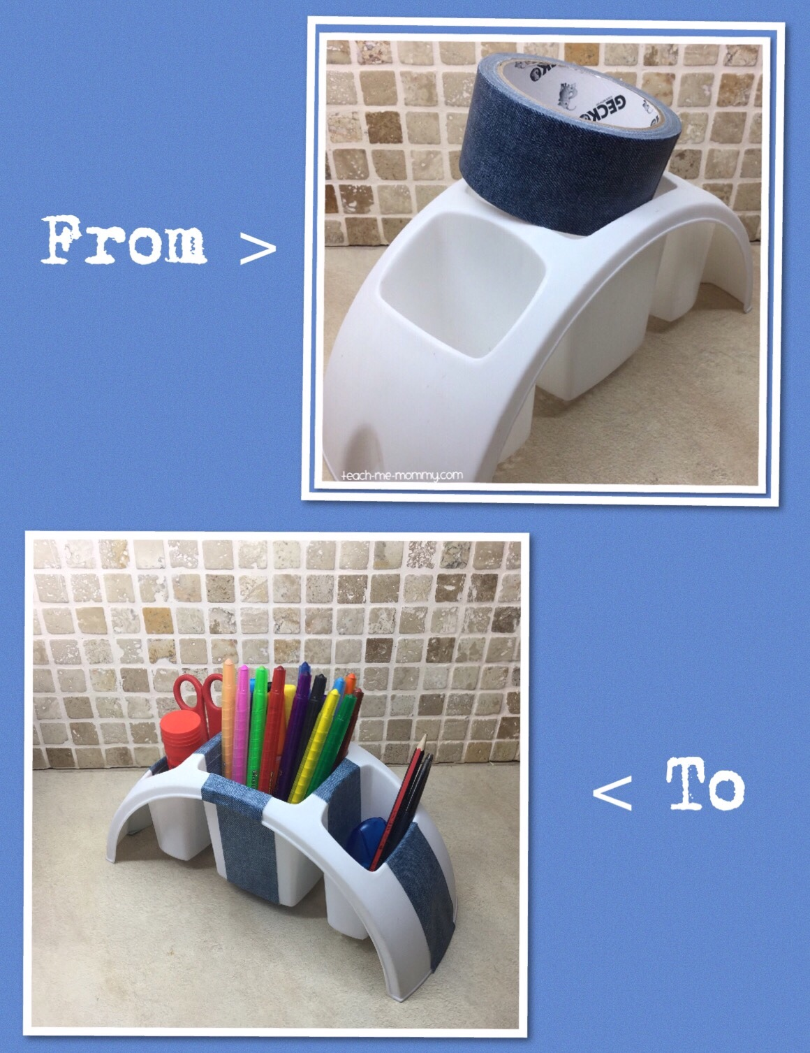 Cutlery holder to stationary holder