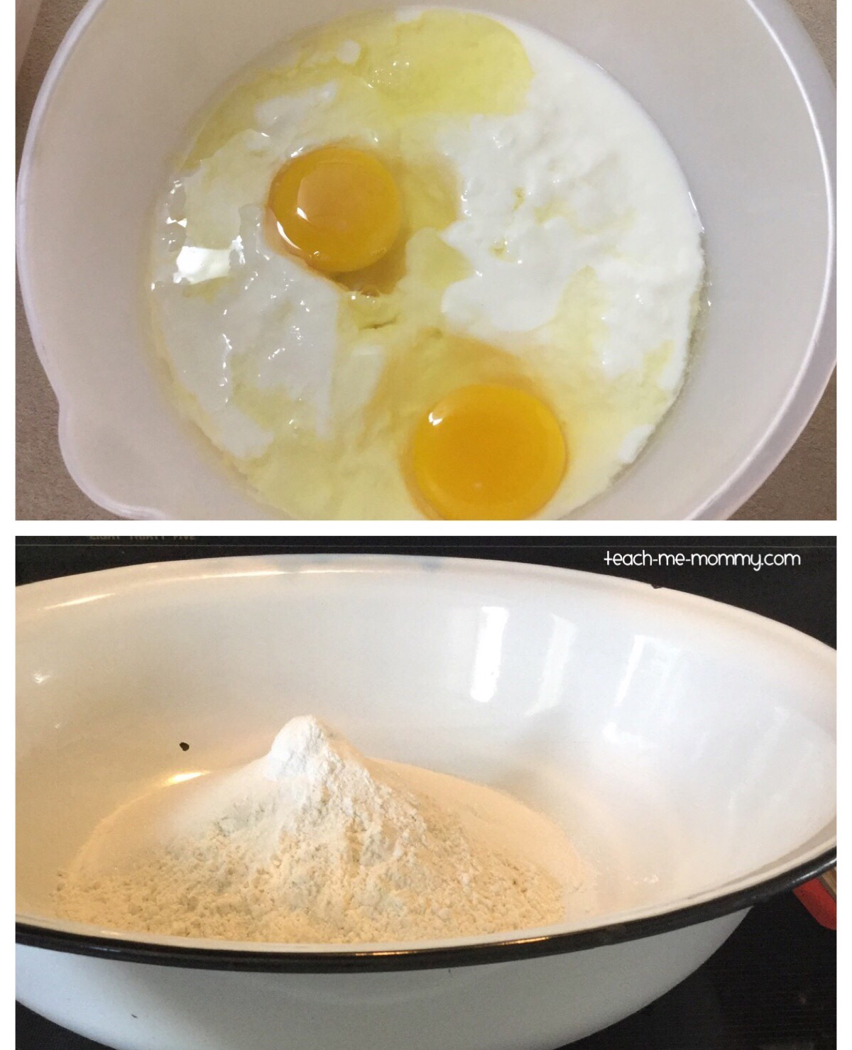 Egg mix & Dry ingredients