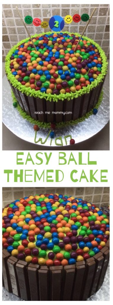 Ball themed cake