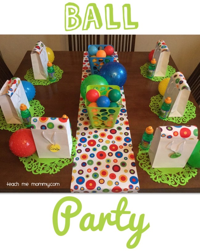 Ball party table