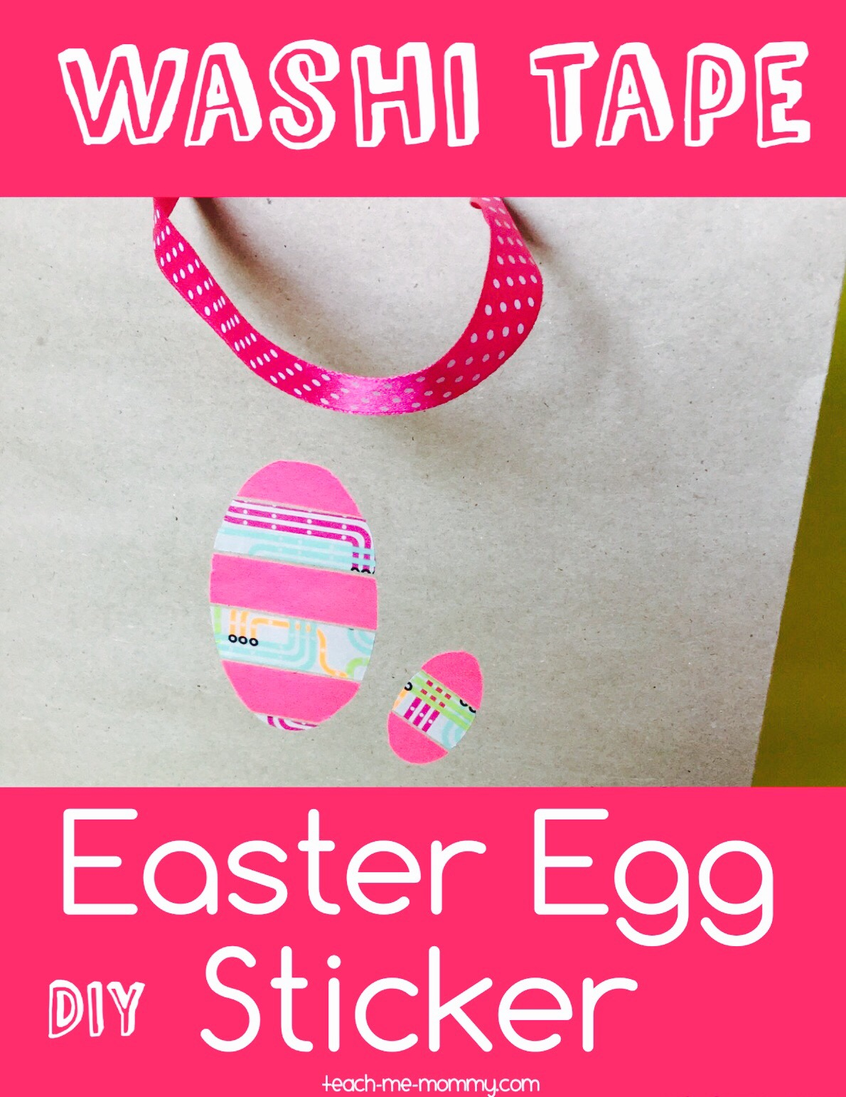 washi tape easter sticker