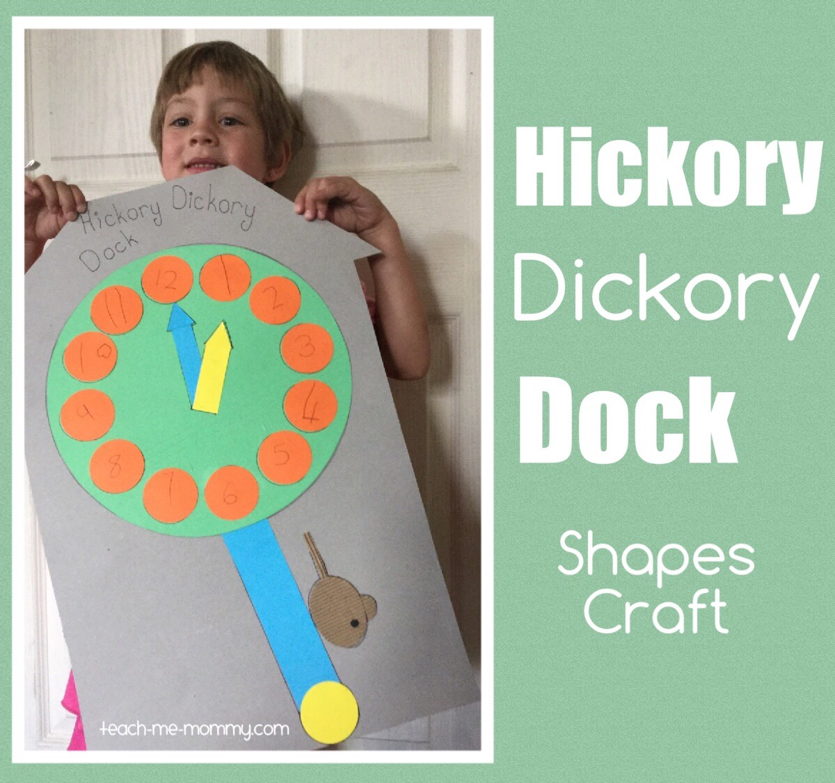 Hickory Dickory Dock Shapes Craft