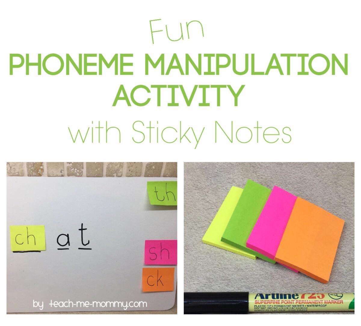 phoneme manipulation w sticky notes