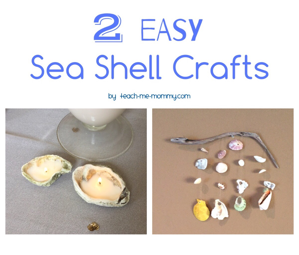 2 Easy Sea Shell Crafts Teach Me Mommy