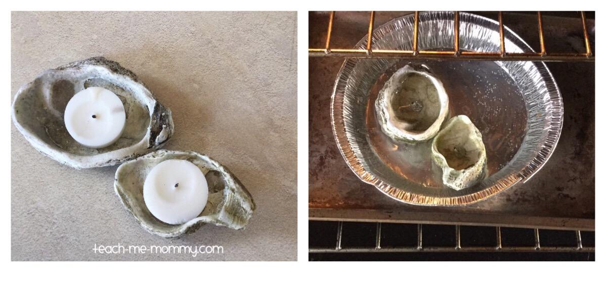 sea shell candle