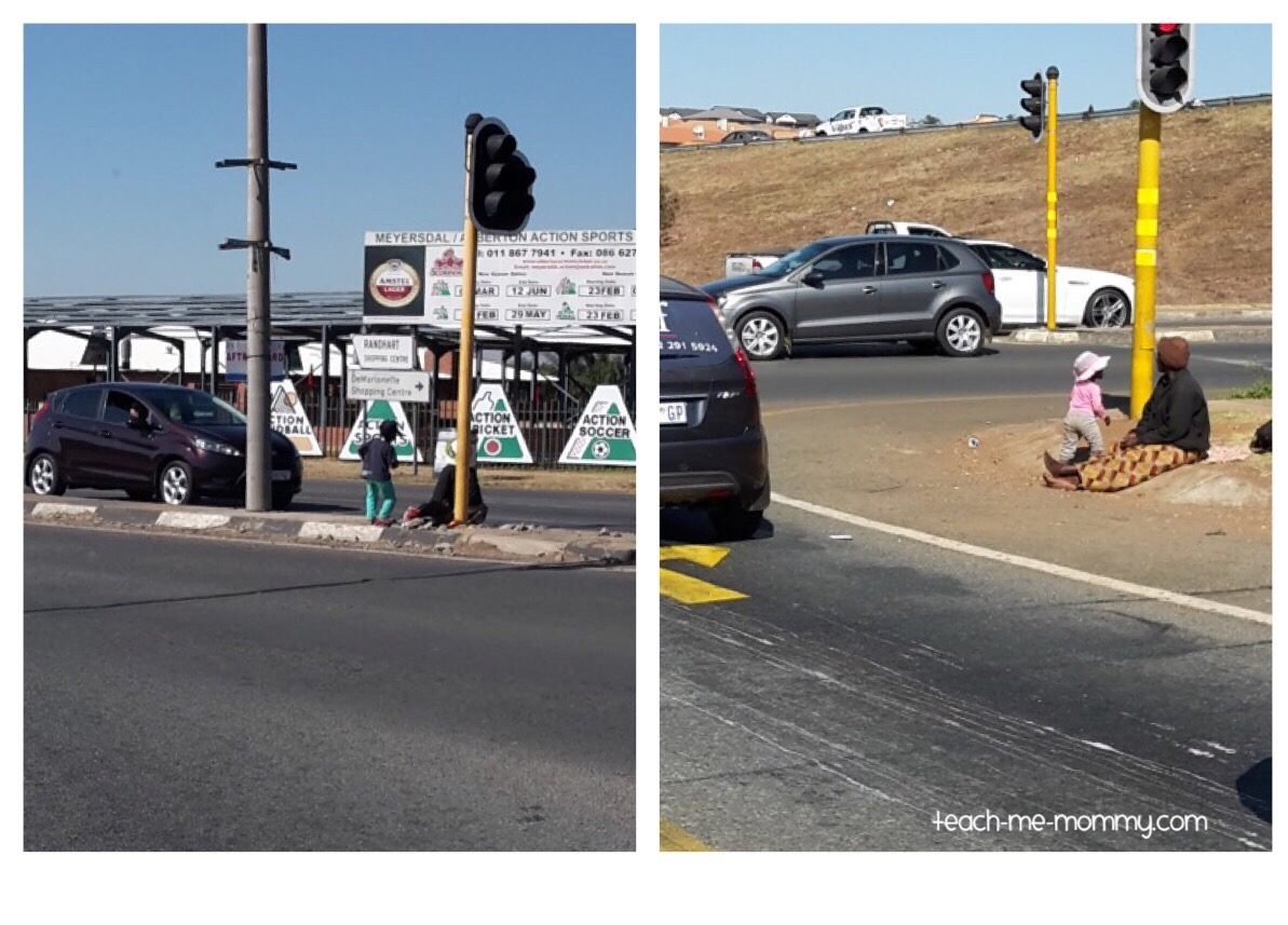 beggars at traffic lights
