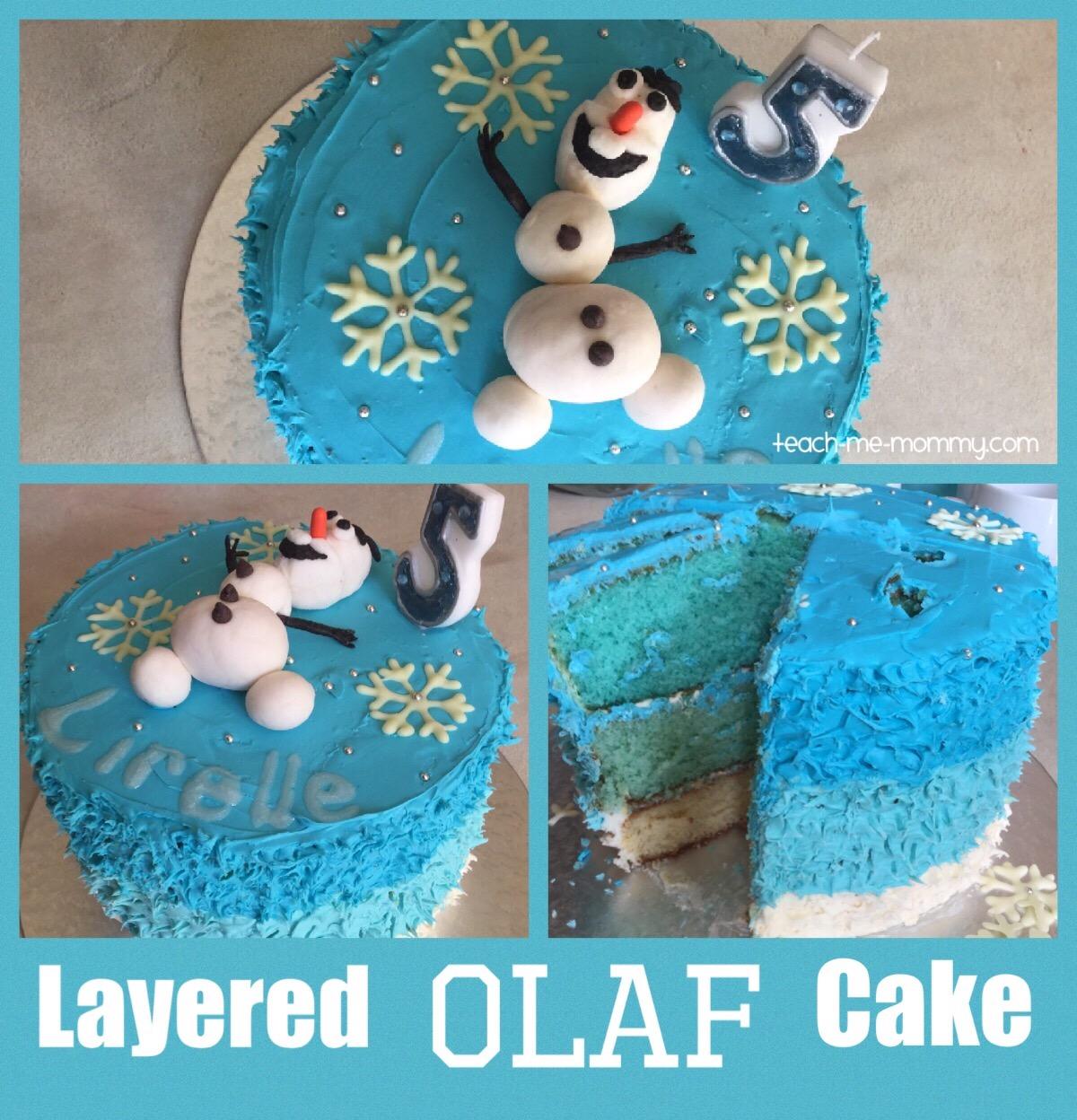 layered  Olaf Cake
