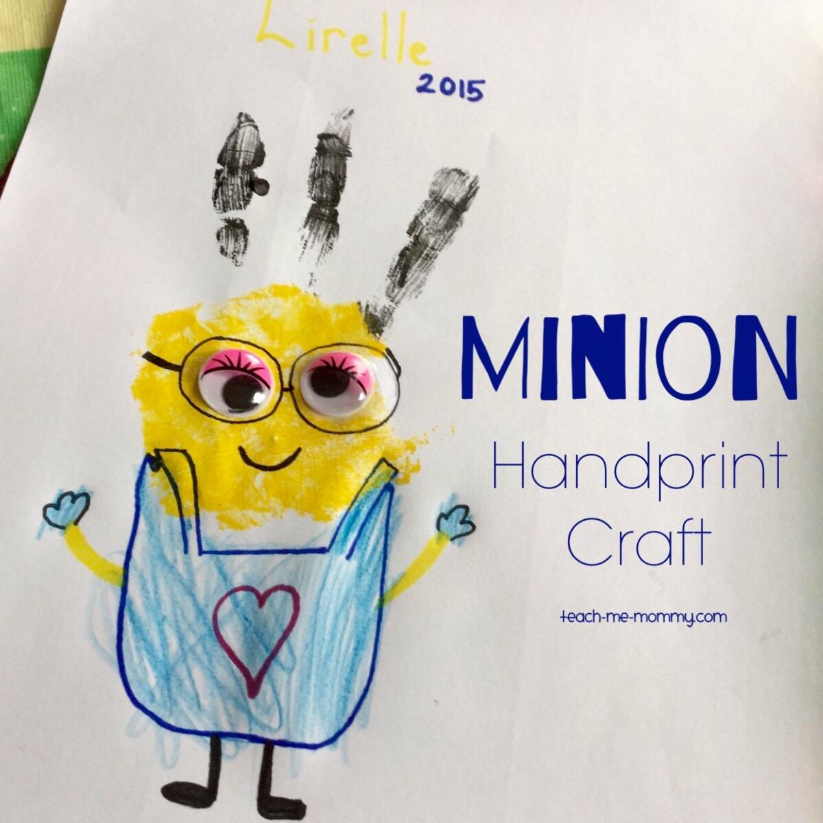 handprinted minion