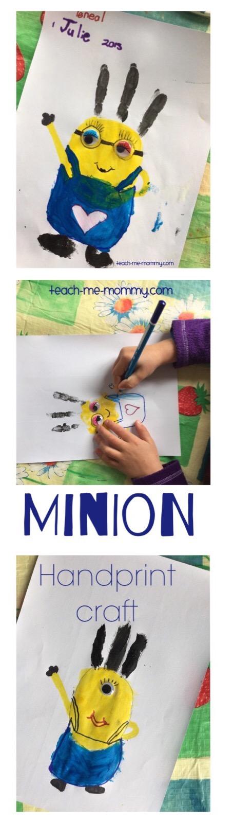 minion handprint craft