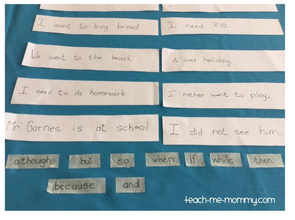 2 sentences + tape word