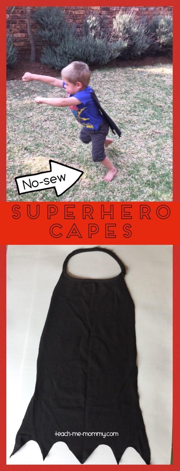 no sew superhero cape