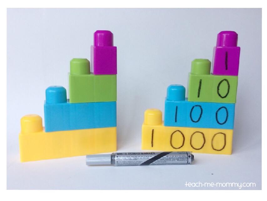 building blocks & dry-erase marker