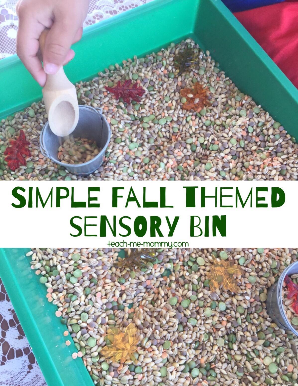 simple fall sensory play