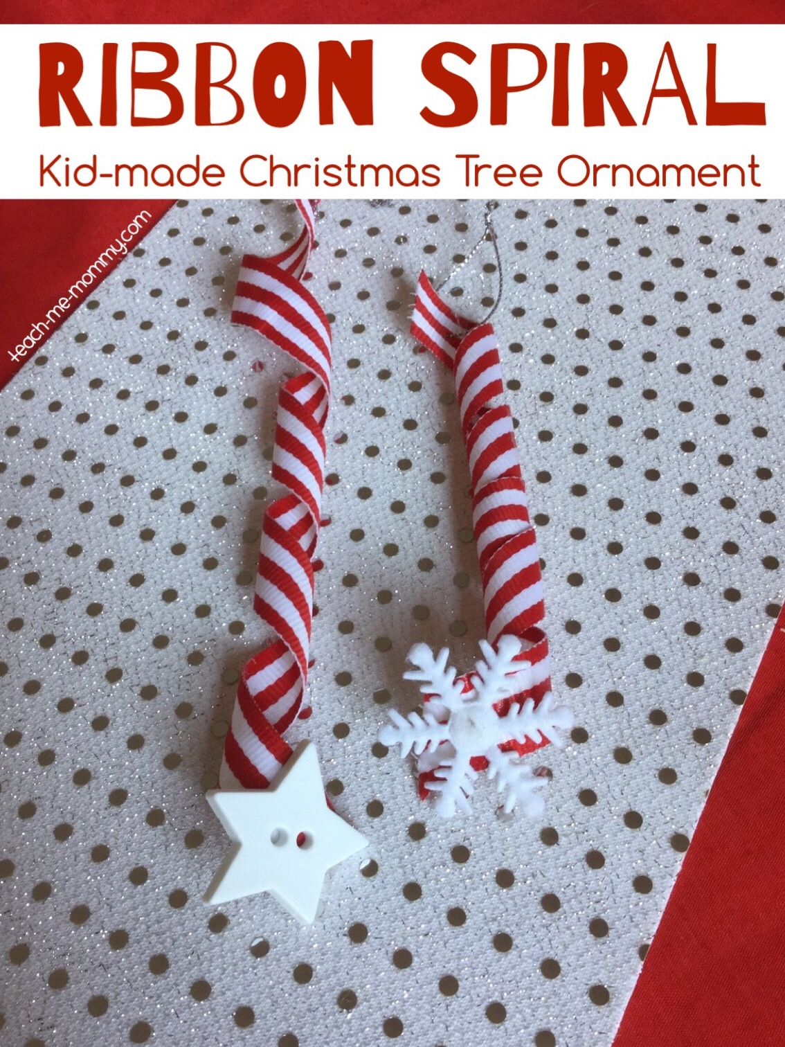 ribbon spiral ornament
