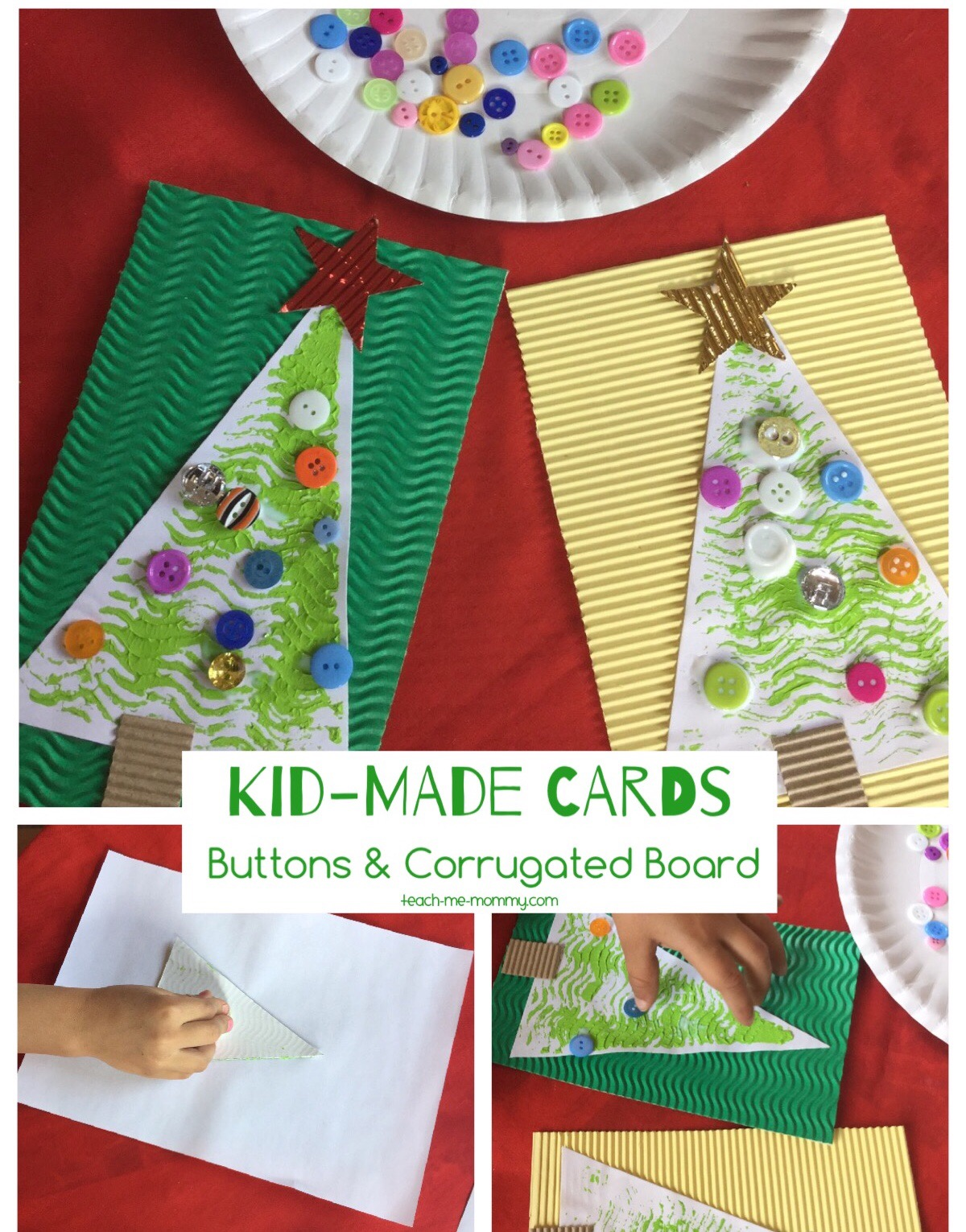 button & corrugated board cards