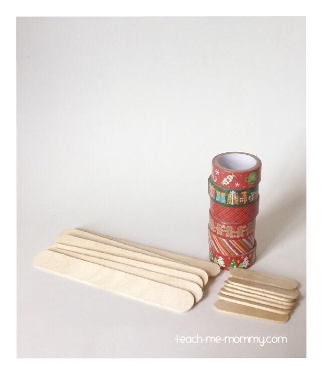 craft sticks & washi tape