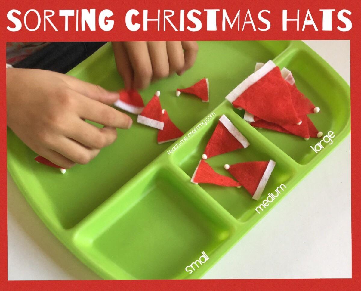 christmas hats tray