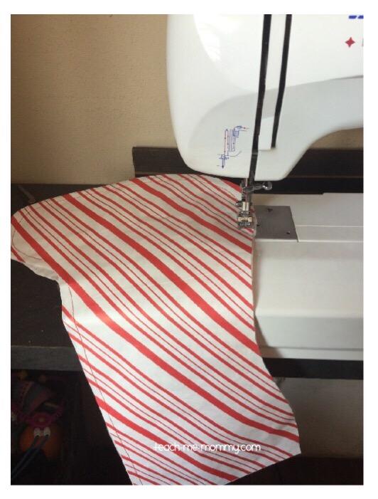 sewing stockings