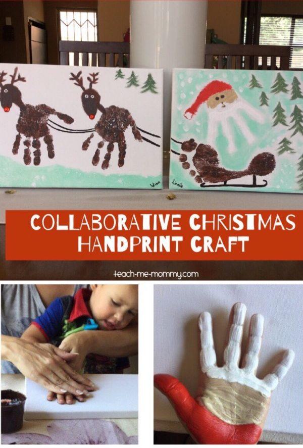 Christmas canvas craft