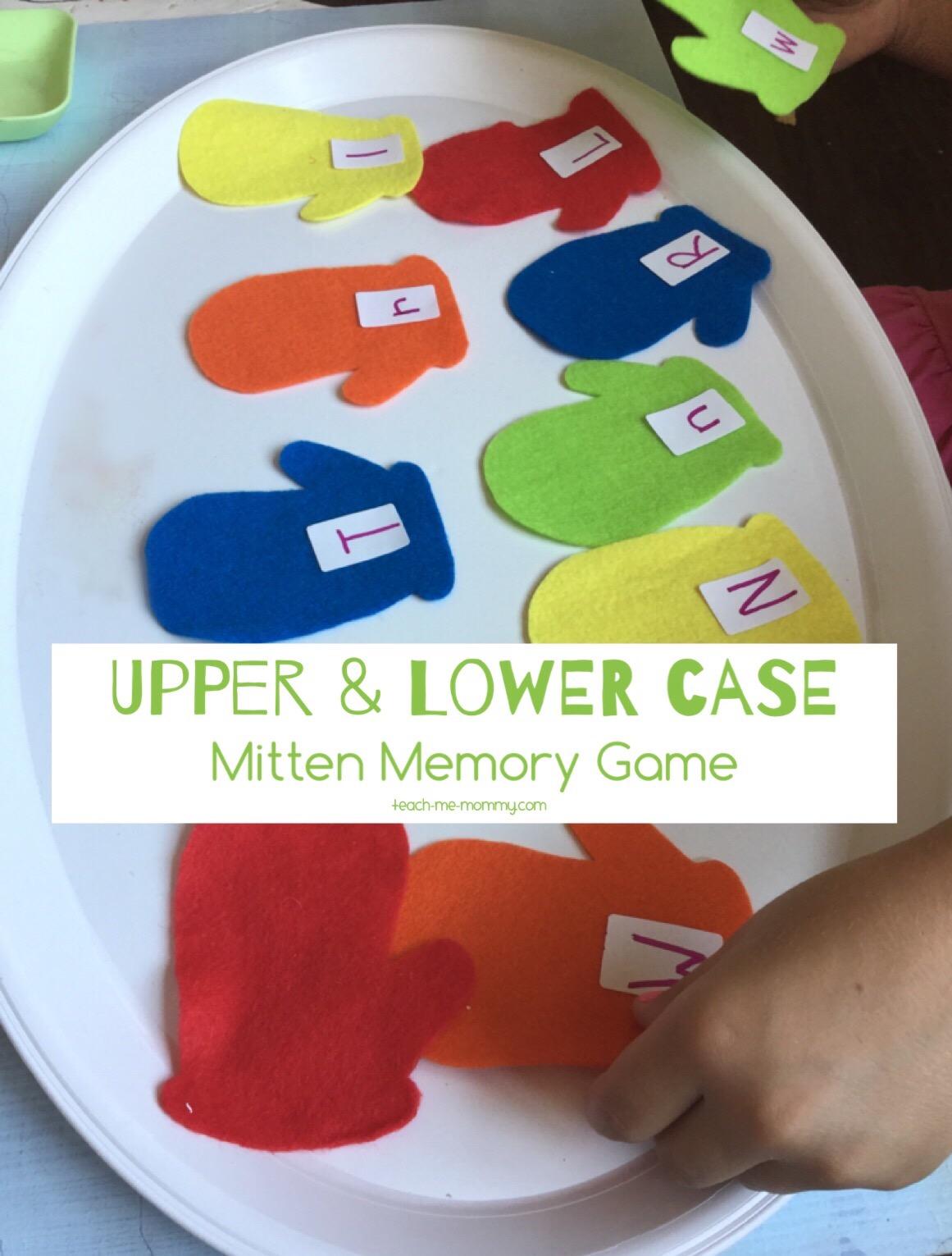 upper lower case mitten match