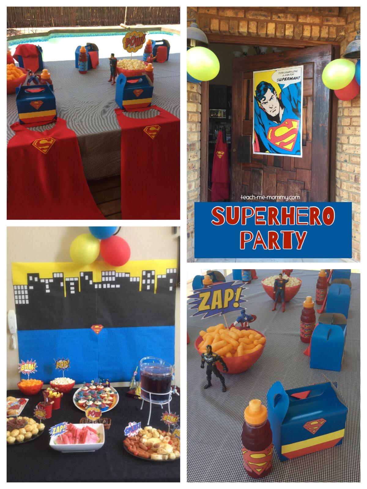 superhero/man party