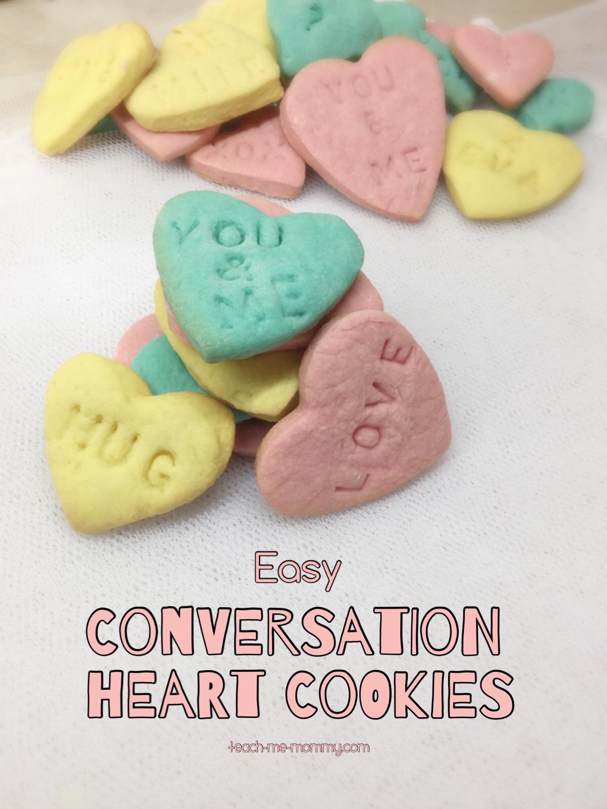 cinversation heart cookies