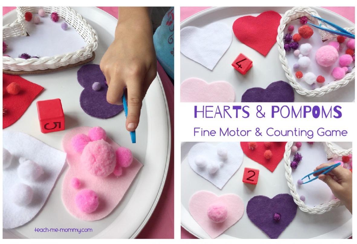 hearts & pompoms