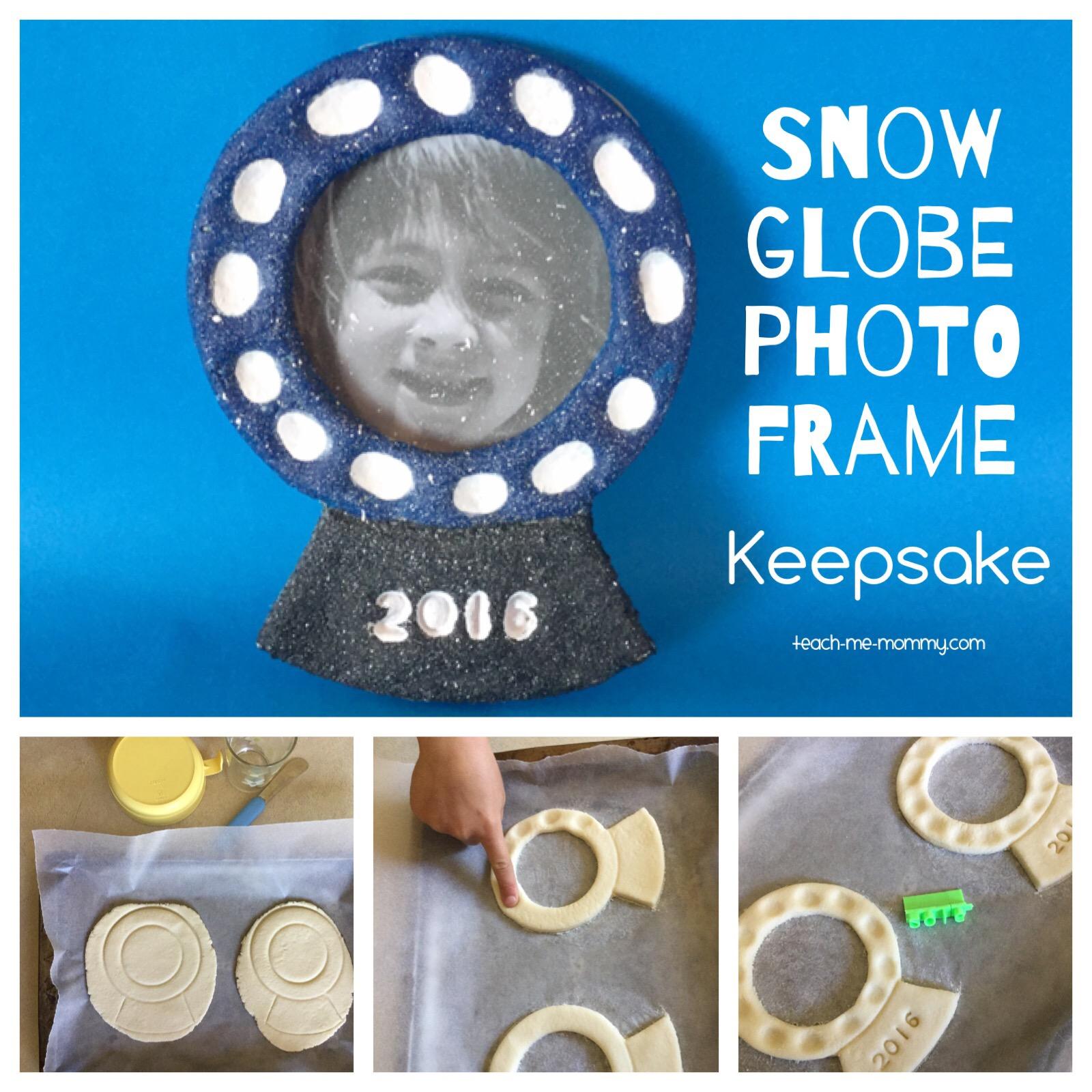 snow globe photo keepsake