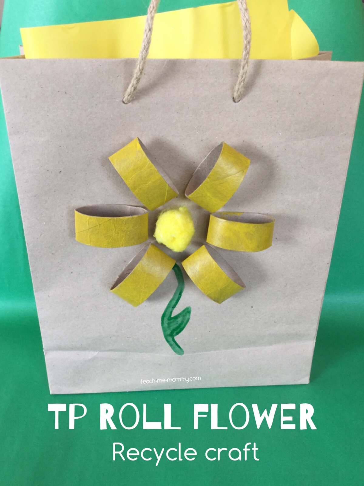tp roll flower craft