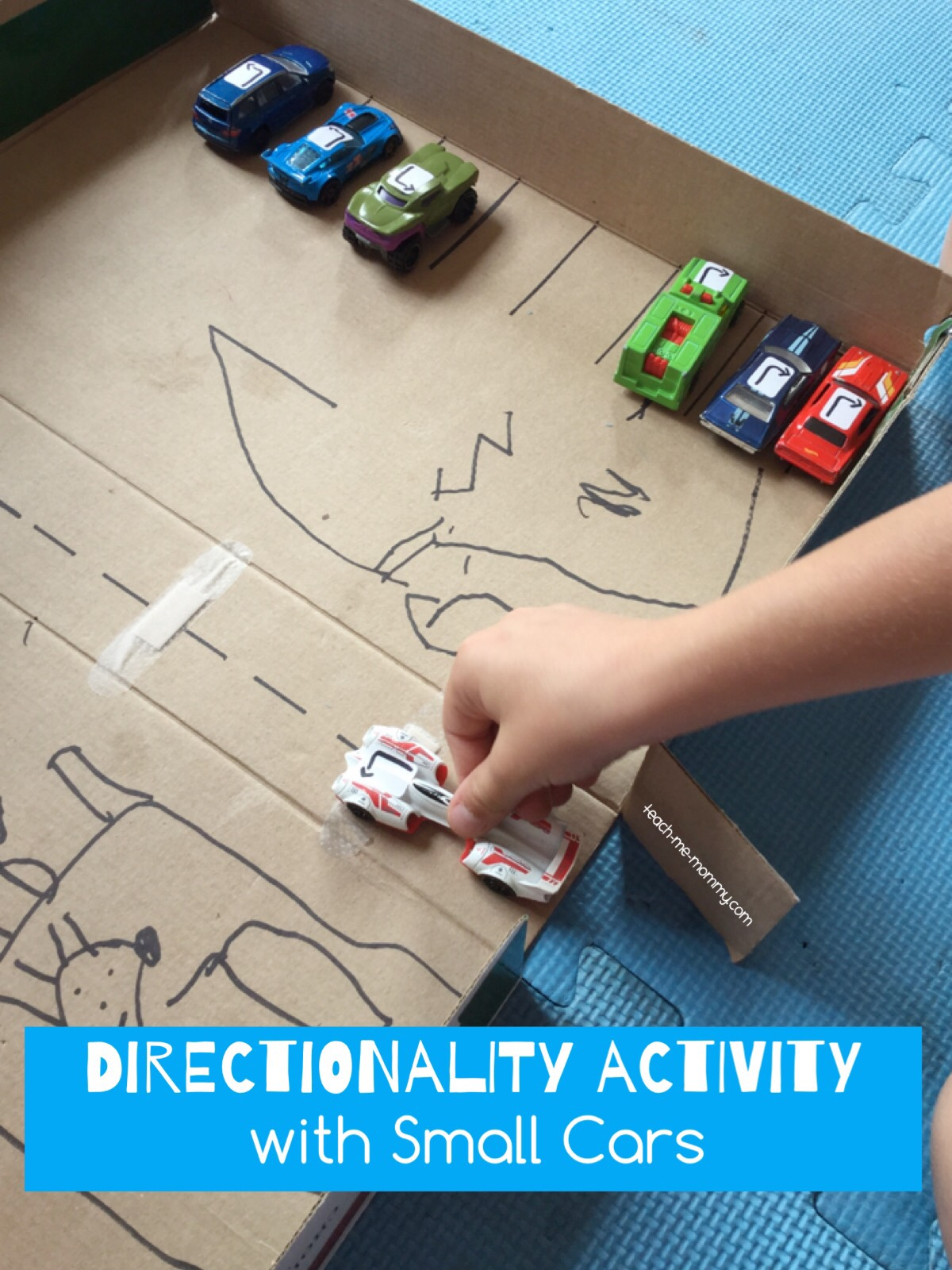 Directionality Activity With Cars Teach Me Mommy