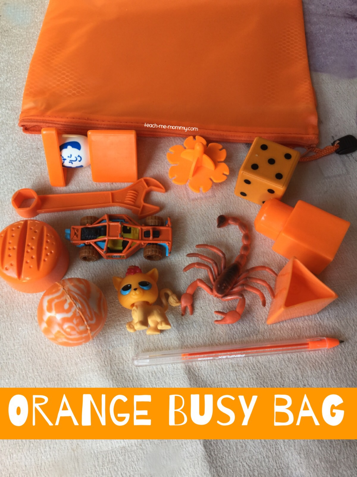 orange busy bag